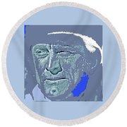 Kirk Douglas Old Tucson Arizona Number 2 1971-2008 Round Beach Towel