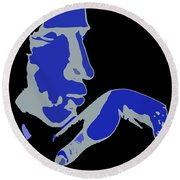 Kiss Of The Blues Round Beach Towel