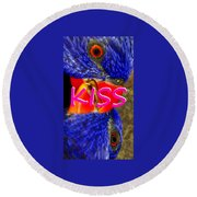 Kissing Birds Spca Round Beach Towel