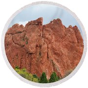 Kissing Camels Rock Garden Of The Gods Round Beach Towel