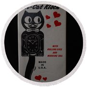 Kit Cat Klock Round Beach Towel