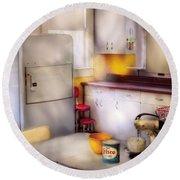 Kitchen - A 1960's Kitchen  Round Beach Towel
