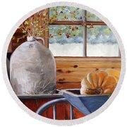 Kitchen Scene Round Beach Towel