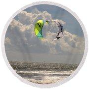 Kite Boarding Buxton Obx  Round Beach Towel