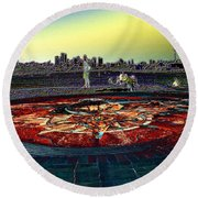 Kite Hill Sundial Round Beach Towel