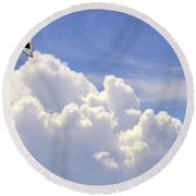 Kite In The Clouds Obx Buxton North Carolina Round Beach Towel