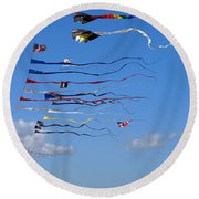 Kite Season Round Beach Towel