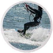 Kite Surfing Round Beach Towel
