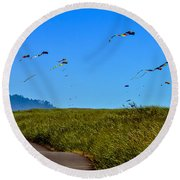 Kites Round Beach Towel