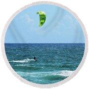 Kitesurfer Dude Round Beach Towel