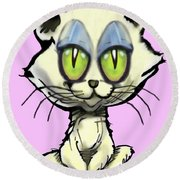 Kitten Round Beach Towel