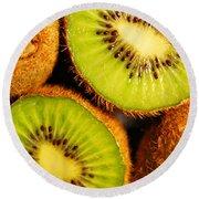 Kiwi Fruit Round Beach Towel