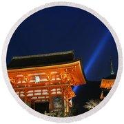 Kiyomizu-dera Main Gate Round Beach Towel