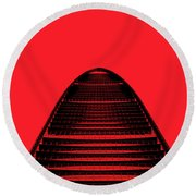 Kk100 Shenzhen Skyscraper Art Red Round Beach Towel