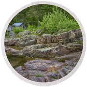 Klepzig Mill Ozark National Scenic Riverways Dsc02803 Round Beach Towel