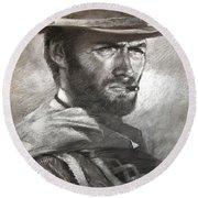 Klint Eastwood Round Beach Towel