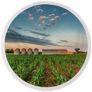 Knee High Sweet Corn Round Beach Towel