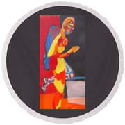 Kneeling Round Beach Towel