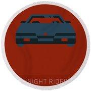 Knight Rider My Favorite Tv Shows Series 020 Round Beach Towel