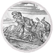 Knights: Jousting, 1517 Round Beach Towel