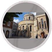 Knights Templar Church- London Round Beach Towel