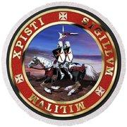 Knights Templar Seal Round Beach Towel