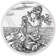 Knights: Tournament, 1517 Round Beach Towel