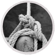 Knot On My Warf Iv Round Beach Towel by Stephen Mitchell
