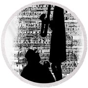 Knowing The Score Transparent Background Round Beach Towel