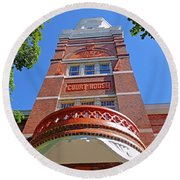 Knoxville Old Courthouse 2 Round Beach Towel