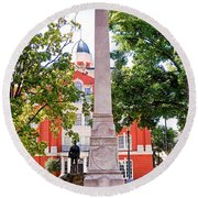 Knoxville Old Courthouse Grounds Round Beach Towel
