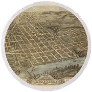 Knoxville Tennessee 1871 Round Beach Towel