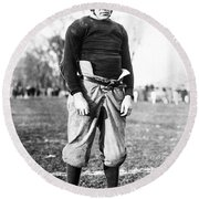 Knute Rockne (1888-1931) Round Beach Towel