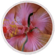 Ko Aloha Aloalo Echoes Of The Soul Exotic Tropical Hibiscus Kula Maui Hawaii Round Beach Towel