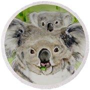 Koalas Round Beach Towel