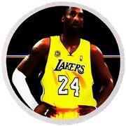 Kobe Bryant Ready For Battle Round Beach Towel