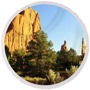 Kodachrome Basin I Round Beach Towel