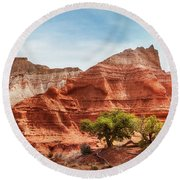 Kodachrome Park Colorful Desert Beauty In Spring. Round Beach Towel
