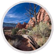 Kodachrome Sunset Round Beach Towel