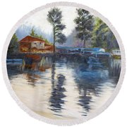 Kodaikanal Lake Round Beach Towel