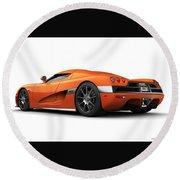 Koenigsegg Ccx Orange Round Beach Towel