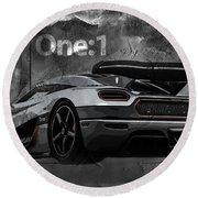Koenigsegg One-1 Round Beach Towel