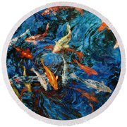 Koi IIi Round Beach Towel