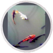 Koi Pond Brooklyn Round Beach Towel