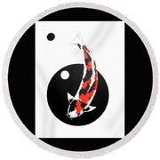 Koi Showa Circles Nishikoi Painting Round Beach Towel