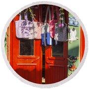 Kokina Red Door Round Beach Towel
