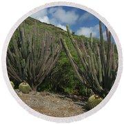 Koko Crater Cacti Round Beach Towel
