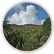 Koko Crater Trail Round Beach Towel