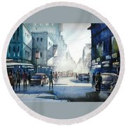 Kolkata City Round Beach Towel