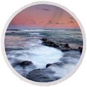 Koloa Sunset Round Beach Towel by Mike  Dawson
